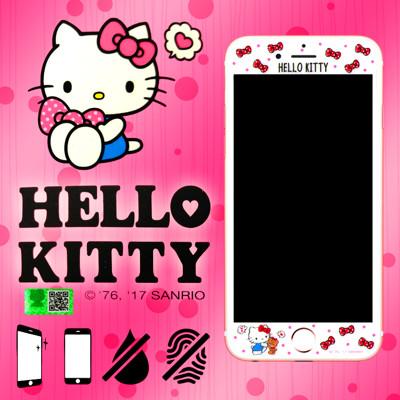 9h滿版 4.7吋 iphone 6/6s/7 hello kitty 凱蒂 彩繪玻璃手機螢幕保護貼 (5.1折)