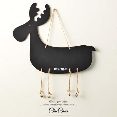 ZAKKA日雜風麻繩動物造型黑板 鈴鐺歡迎掛牌掛飾 綿羊/麋鹿 (2.5折)