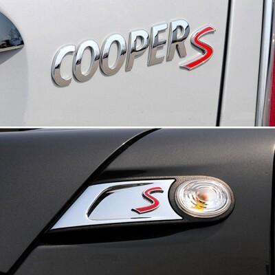 MINI S標 金屬標 MINI ONE COOPER F56 F55 F60 R55 R53 R5 (7.5折)