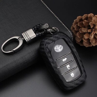Toyota 碳纖鑰匙套 鑰匙扣 altis vios Yaris rav4 chr ae86 (9.3折)