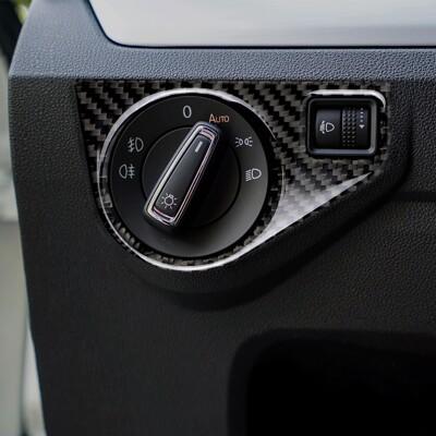 VW GOLF 7 大燈開關碳纖裝飾貼 真碳纖貼 卡夢 內飾貼 車貼 GTI R TSI TDI (9.4折)