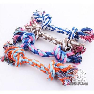 L號 / 寵物玩具 寵物超耐咬磨牙潔齒棉繩 狗玩具 磨牙 拉繩 棉球 棉繩 拉扯玩具 刷牙繩