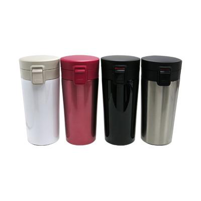 304不鏽鋼 彈跳咖啡保溫杯 350ml (3.6折)