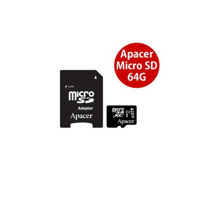 Apacer 宇瞻 64G MicroSD U1 C10 Class10 記憶卡 適 行車紀錄器 (8.4折)