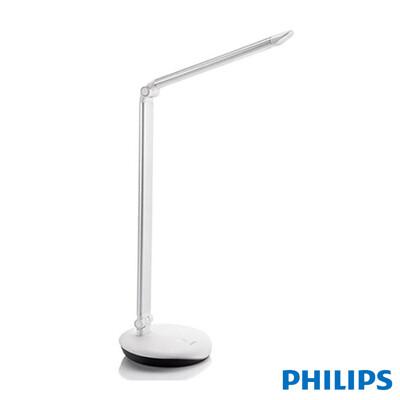 【飛利浦 PHILIPS】LEVER 酷恒 LED檯燈-銀灰色 (72007) (5折)