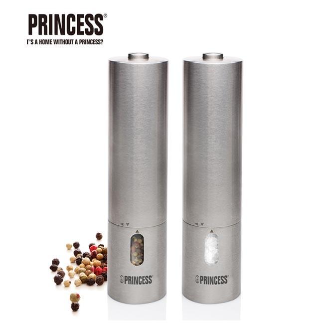 荷蘭公主 princess不鏽鋼電動研磨椒鹽罐組 (493000)