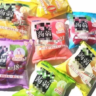 日本 ORIHIRO 新食感 蒟蒻擠壓式果汁 果凍 低卡路里 (單口味,一包六入) (6.2折)