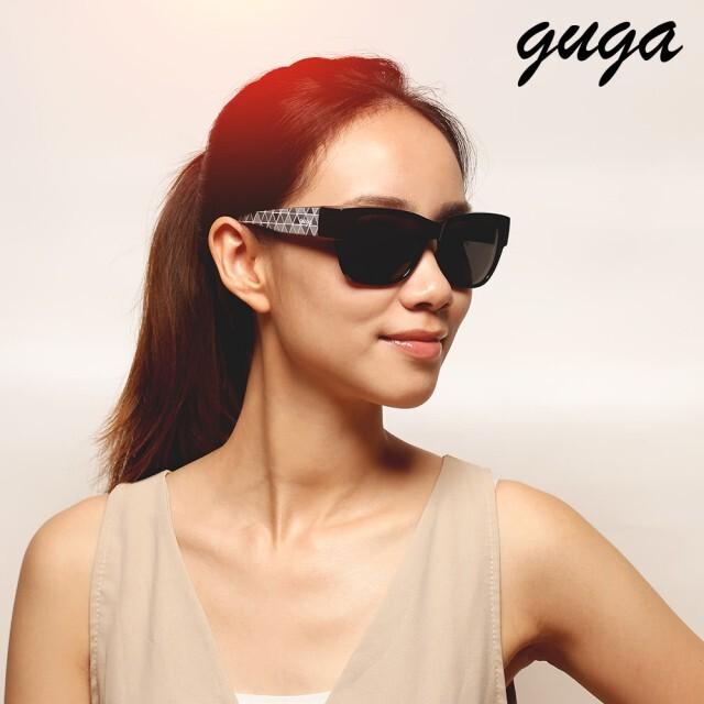 guga網格時尚偏光掛套式太陽眼鏡(j1314-1-h11)
