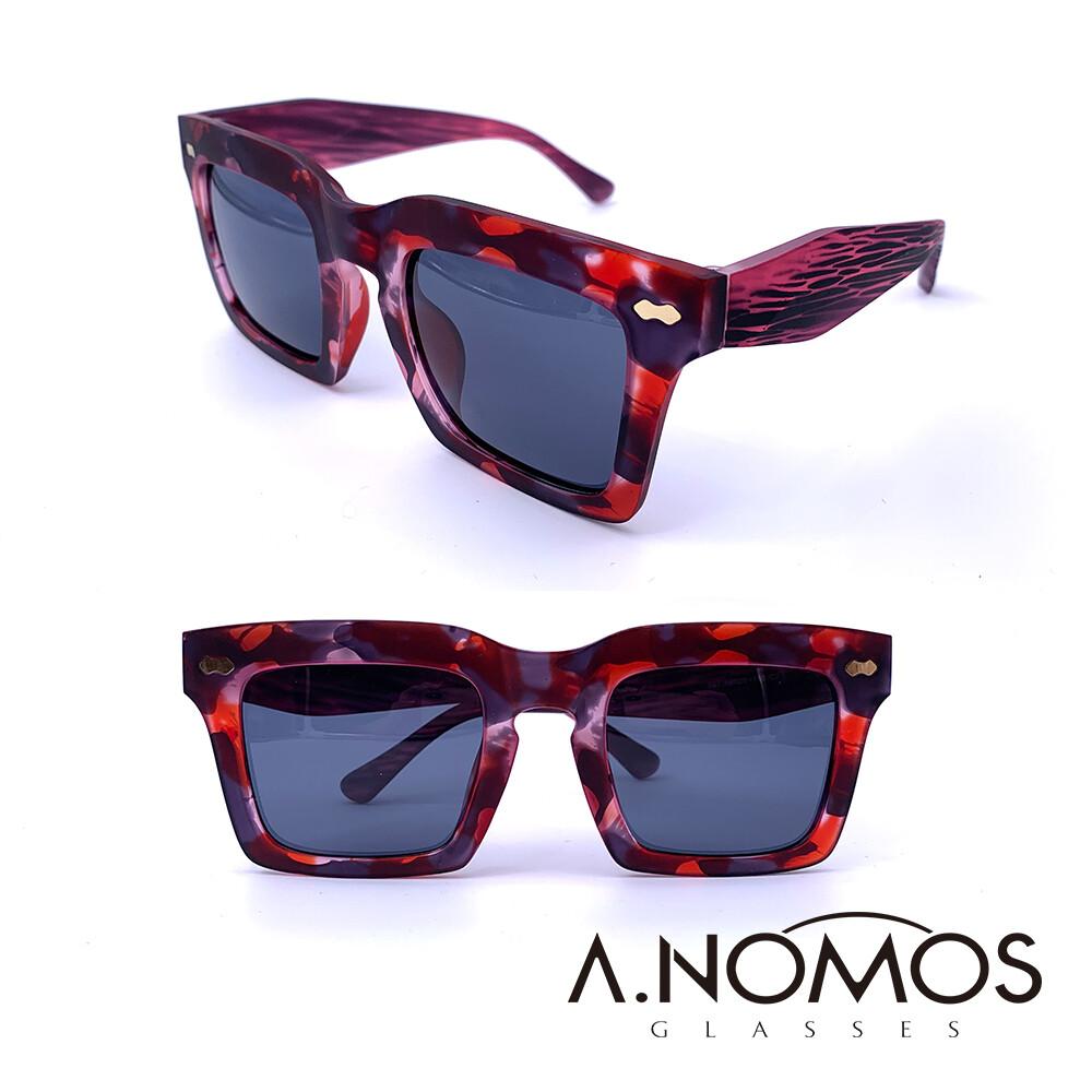 a.nomos瑪莉珍的幻境輕時尚季節款海波大方框墨鏡/太陽眼鏡(567-紅海款)