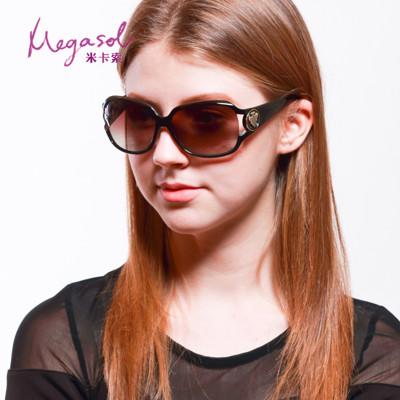 【MEGASOL】寶麗萊UV400偏光太陽眼鏡(Gucci設計師圖騰款MS3043咖啡色) (5.2折)
