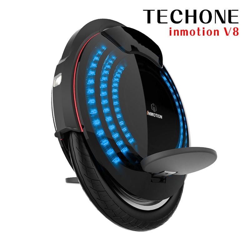 techone inmotion v8獨輪平衡車成人跑馬燈推杆電動體感車代步車