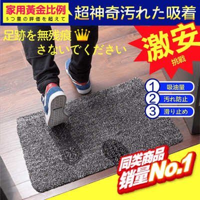 新升級機能除塵玄關腳踏墊/地墊 40x60cm (2.1折)