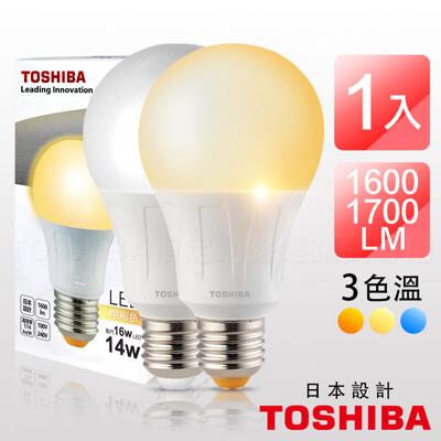 TOSHIBA東芝 LED高效燈泡 第二代 14W 廣角型 日本設計 (4.5折)