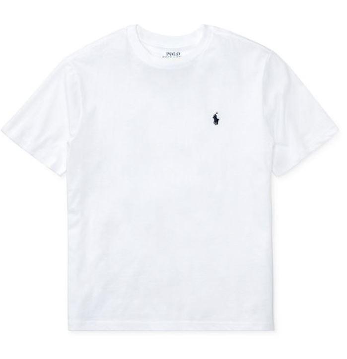 polo ralph lauren 橙邑男時尚青年版白色圓領短袖恤