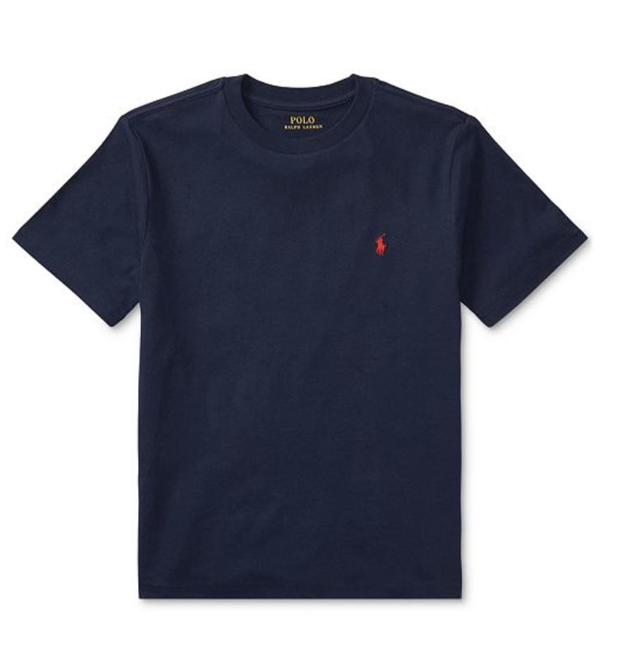 polo ralph lauren 橙邑男時尚青年版寶藍色圓領短袖恤
