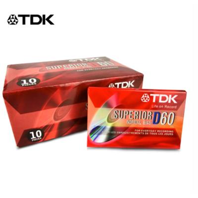 經典重現TDK高品質 D60錄音帶 (一盒10片) (7.9折)