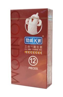 【勁威】衛生套 粗顆粒型/螺紋型/三合一型 三款任選(12個/盒) (3.6折)