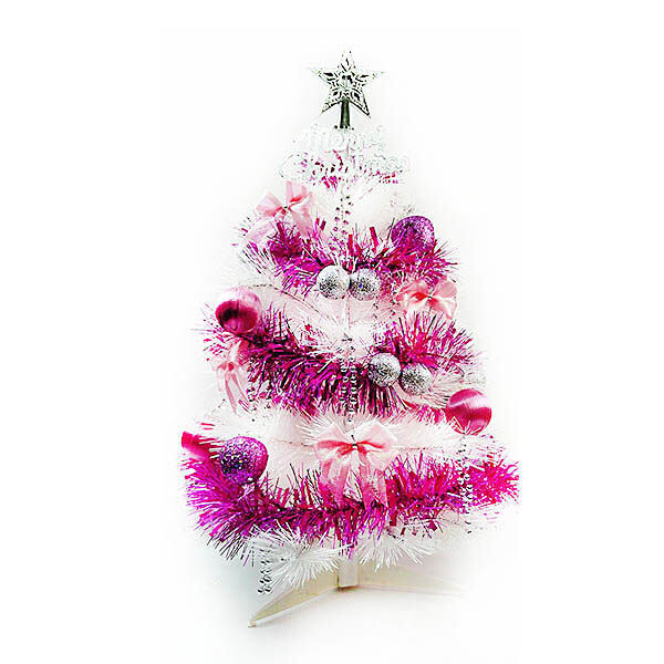 摩達客 台灣製2尺(60cm)特級白色松針葉聖誕樹(不含燈)