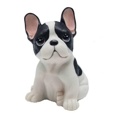 【摩達客寵物】超萌擬真黑白好旺鬥牛犬創意狗狗寵物擺飾(單入) (4.9折)