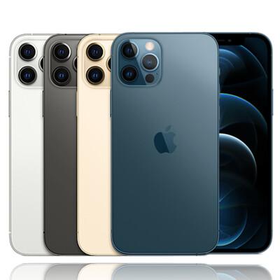 Apple iPhone 12 Pro Max 128G 防水5G手機+貼+套 (9.8折)