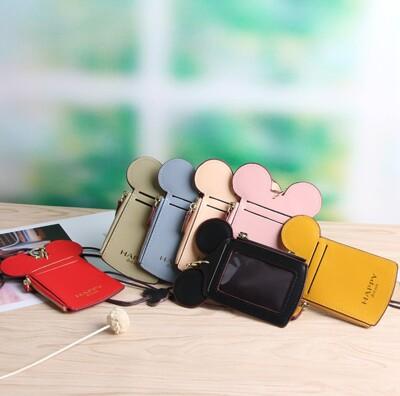 【米奇造型卡套】識別證套 證件夾 證件套 掛繩卡套 捷運卡套 悠遊卡卡套 工作證套 米奇零錢包 鑰匙 (5.6折)