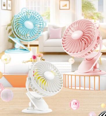 新品促銷【夾式電風扇】夾式娃娃車推車風扇 迷你桌扇 嬰兒車夾式電風扇 USB充電小風扇