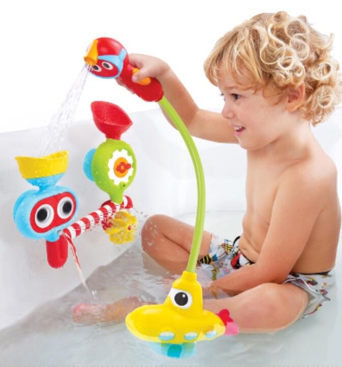 以色列 yookidoo 戲水玩具-大眼瀑布蓮蓬頭套組