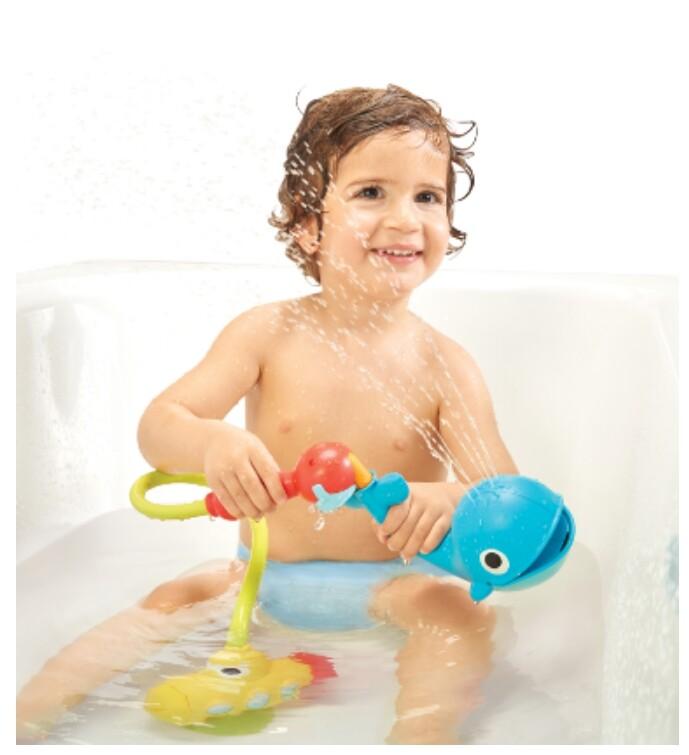 以色列 yookidoo 戲水玩具-噴水鯨魚蓮蓬頭套組
