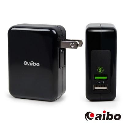 aibo QC3.0 5V/9V/12V 雙USB勁速快充器(支援Type-C充電) (6折)