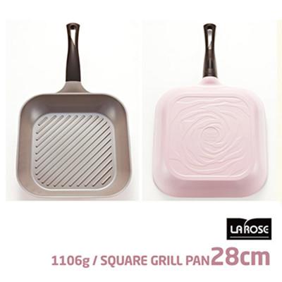 韓國NO.1【Chef Topf】薔薇/玫瑰鍋LA ROSE系列28公分四方型平底鍋GP-28 (2.2折)
