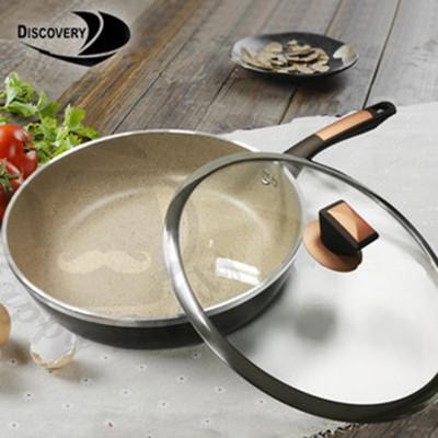 【Discovery發現者】韓式喜悅 不沾鍋 深煎鍋/平底鍋+鍋蓋(30cm) GPL-3000DF (6.9折)