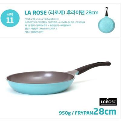 韓國NO.1【Chef Topf】 薔薇鍋/玫瑰鍋LA ROSE系列28cm不沾平底鍋FP-28 (3.7折)