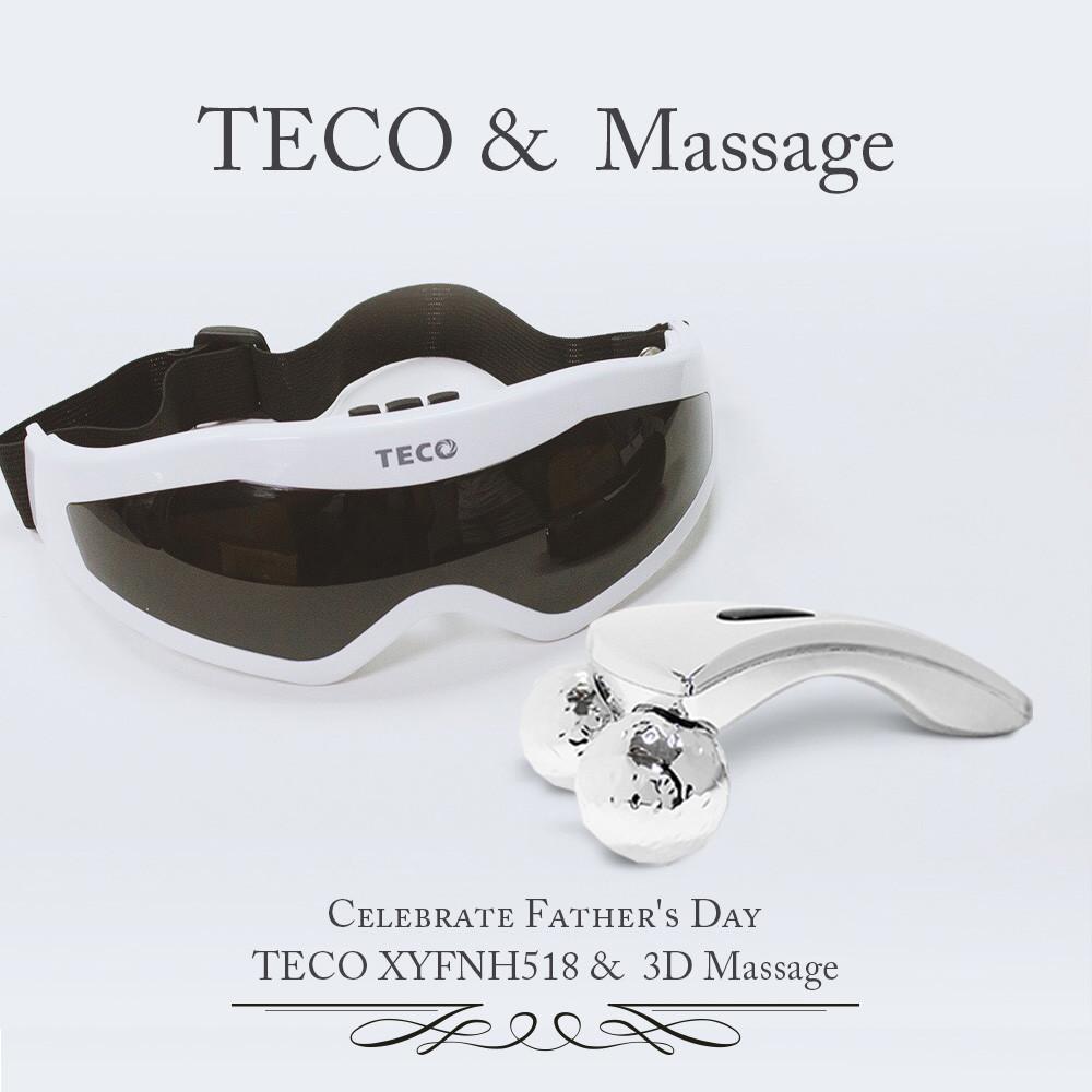 東元眼部紓壓按摩器+3d massage 二輪美膚保健按摩器xyfnh518_ a33818