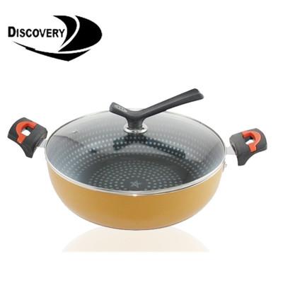 【Discovery發現者】喜悅不沾無毒鑽石萬用鍋/平底鍋/電火鍋(30cm)GPD-3000JP (8折)