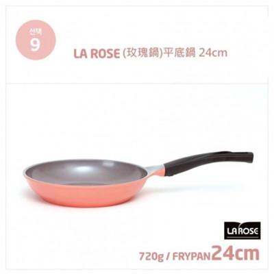 韓國NO.1【Chef Topf】 薔薇鍋/玫瑰鍋LA ROSE系列24cm不沾平底鍋FP-24 (6.6折)