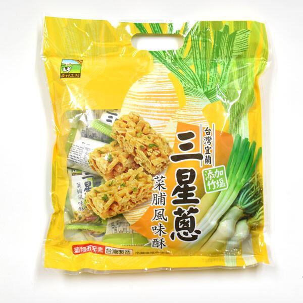 甲賀之家-三星蔥菜脯風味酥 340g