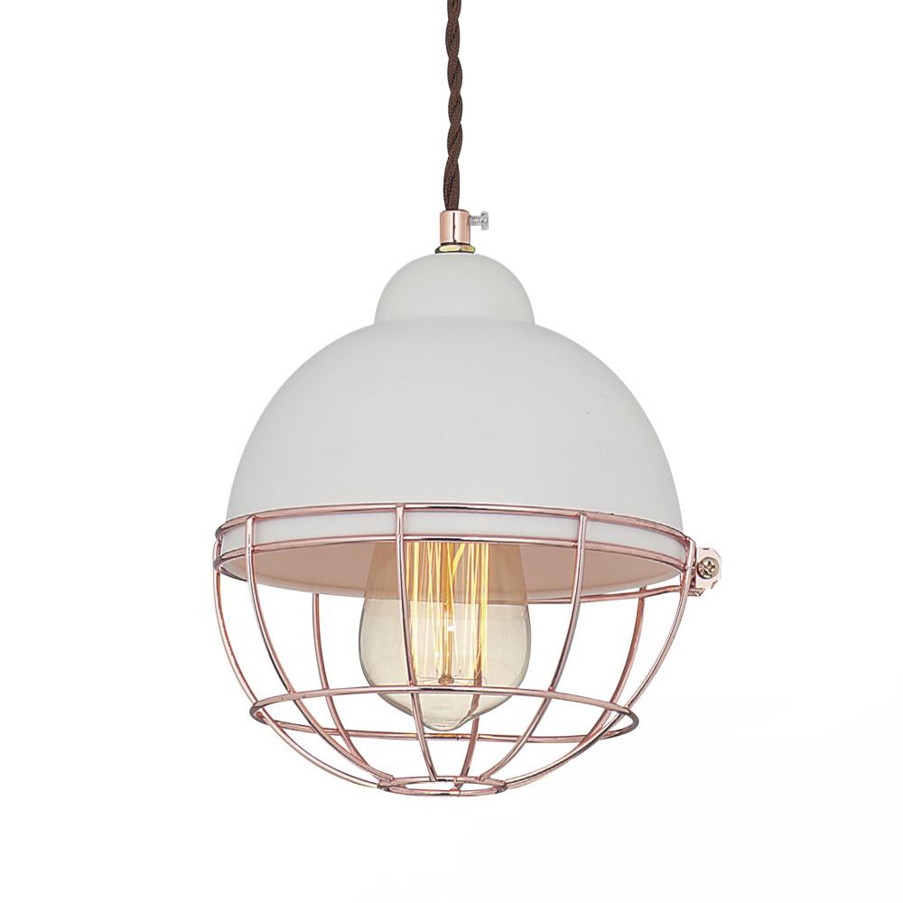 玫瑰金鐵網白色吊燈