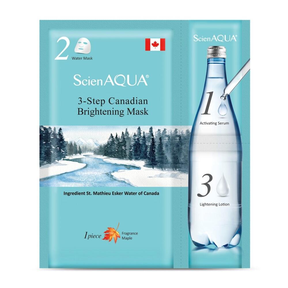 15片特價$885 scienaqua科水 加拿大美白三部曲面膜-1片 (升級版/日文)