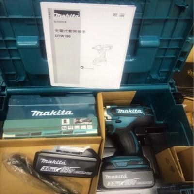 MAKITA牧田 18V 衝搫套筒板手 DTW190JX3 3.0AH 附套筒組 接桿 (8.1折)