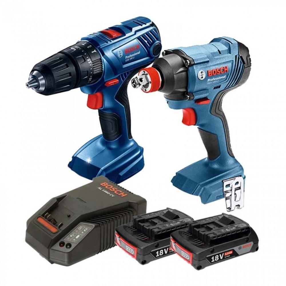 bosch 18v鋰電震動電鑽起子機gsb180+衝擊起子/扳手機gdx180套裝組