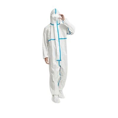 pe淋膜多層保護條紋防護衣隔離衣防塵衣防護服隔離服防塵服一次性服拋棄式服