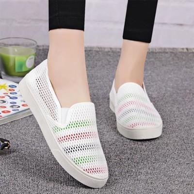 出清透氣網狀洞洞色彩方便休閒鞋 (5折)