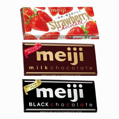 《FORUN BEAUTY》日本 明治 Meiji 片裝巧克力 牛奶/黑巧克力/草莓夾餡 (10折)