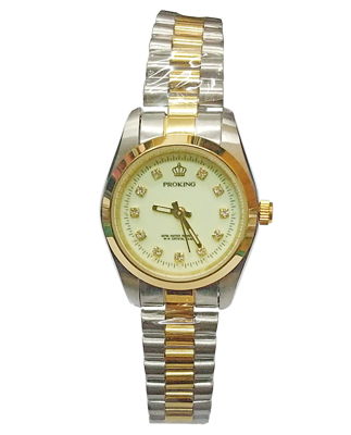 PROKING皇冠 金色風尚全鋼腕錶 (3.3折)