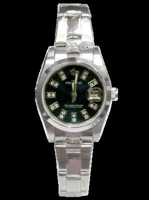 PROKING皇冠 個性都市全鋼日窗腕錶 小款 (6.2折)