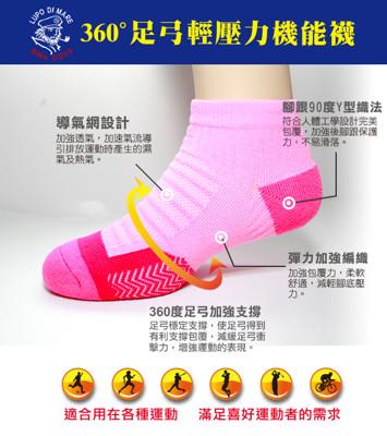 【老船長】(K144-7M)足弓輕壓機能運動襪-(女款尺寸22-24cm) (1.4折)