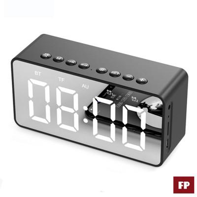 【現貨秒出】藍芽5.0鏡面時鐘音箱重低音無線藍芽喇叭鬧鐘【台灣出貨】【國家認證】【C1-00027】 (5折)