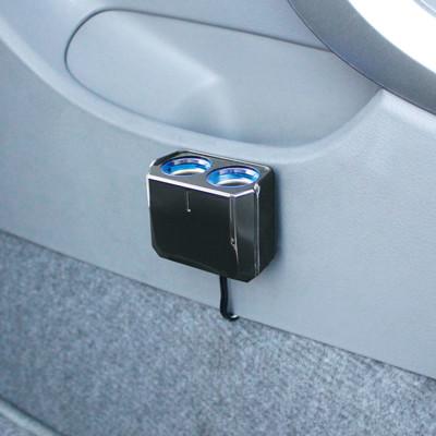 【日本YAC】12V延長線LED冷光雙孔插座PZ-736 (汽車|擴充器|充電器) (3.8折)