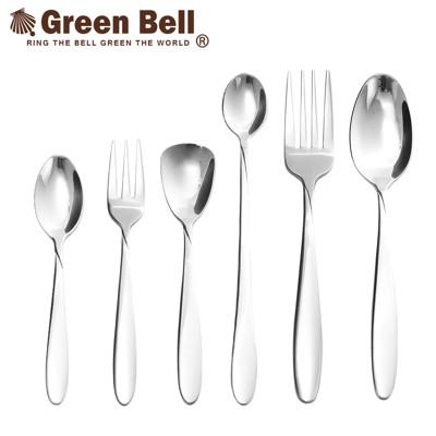 【Green Bell綠貝】304不鏽鋼高質感餐具(小餐匙、小餐叉、布丁匙、長茶匙、中餐叉、中餐匙) (3.4折)