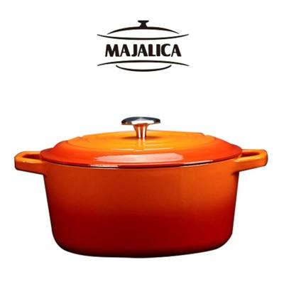 【Majalica】鑄鐵鍋23cm(橘) (6.2折)